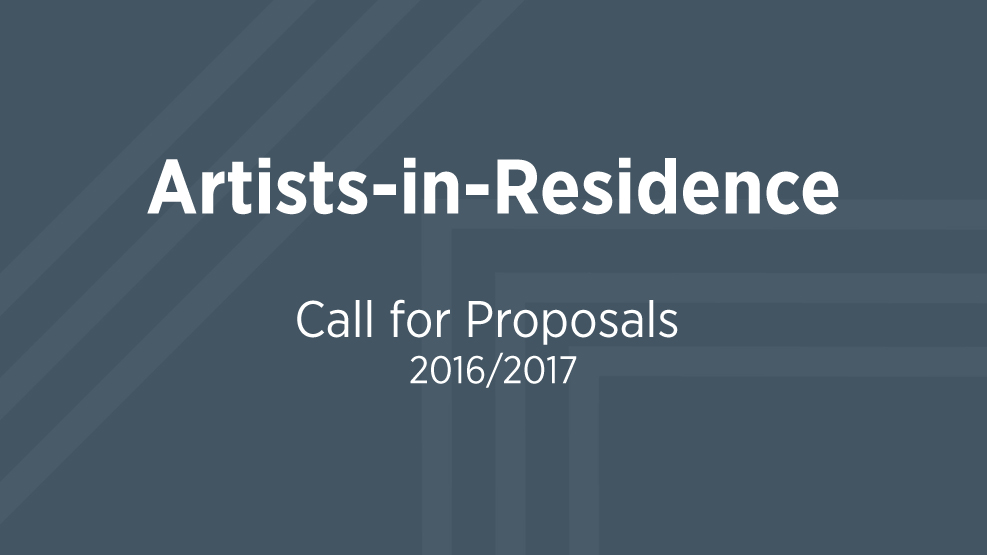 AiR Call for Proposals