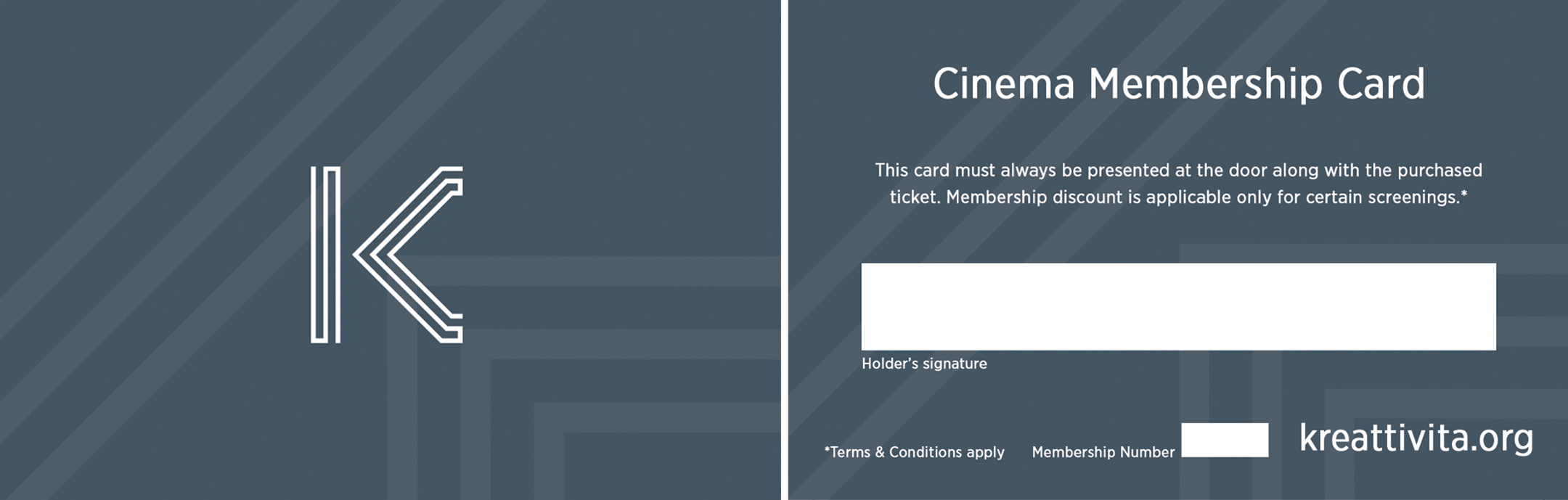 Cinema Membership Card