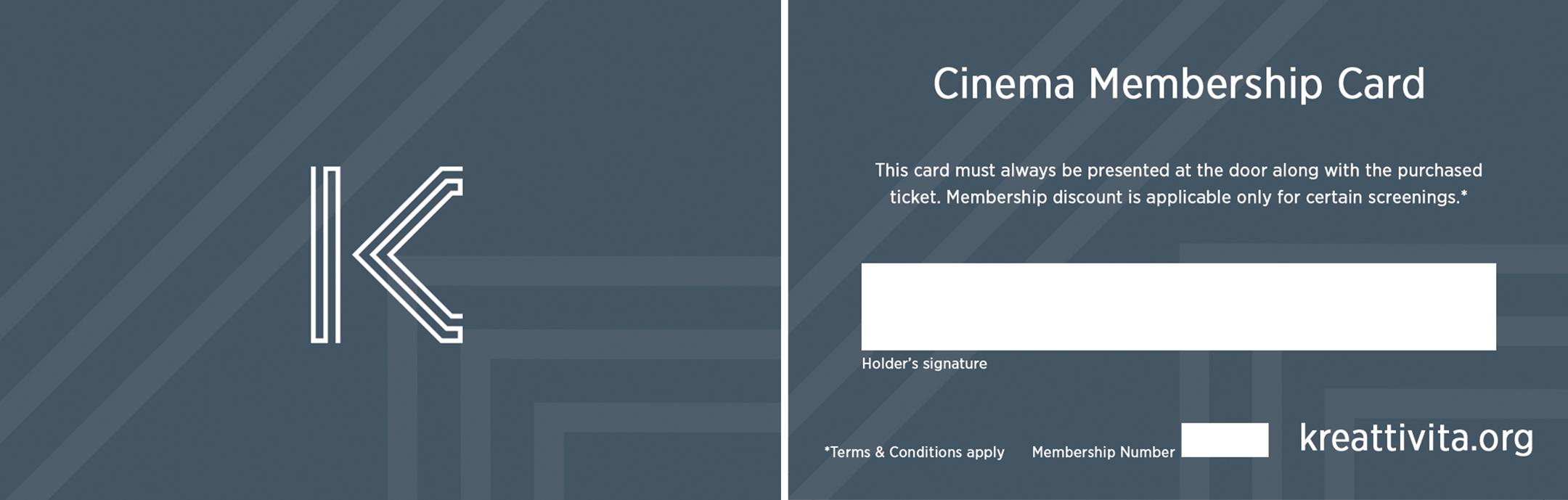 Cinema Membership Card